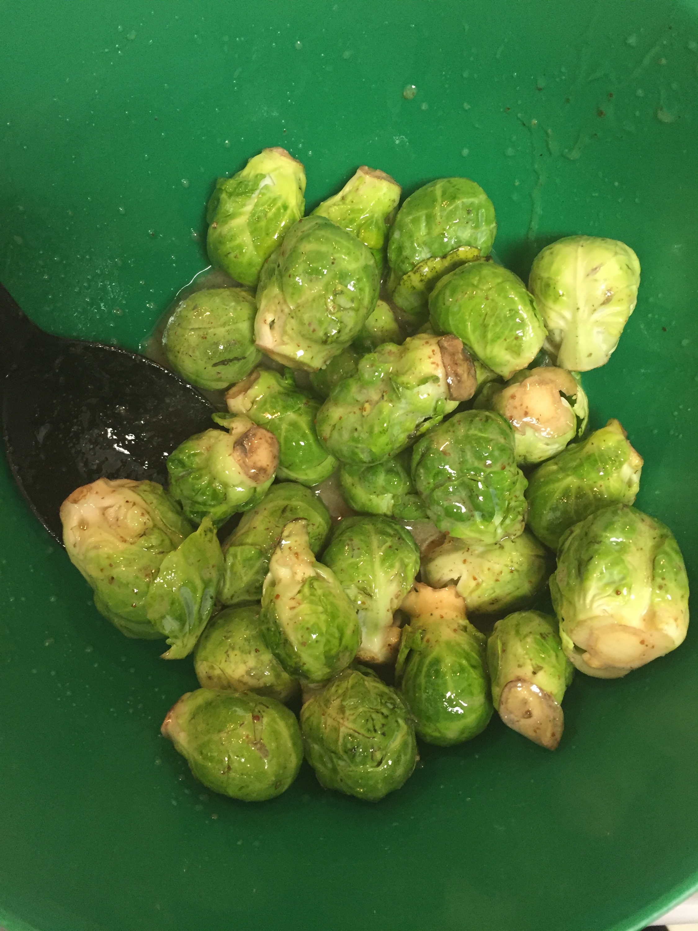 brussel sprouts in dressing